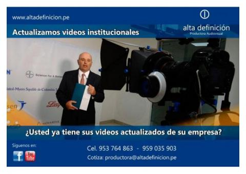 Necesitas Tu Video Institucional YA !!
